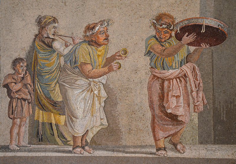 Roman mosaic depicting celebrations.