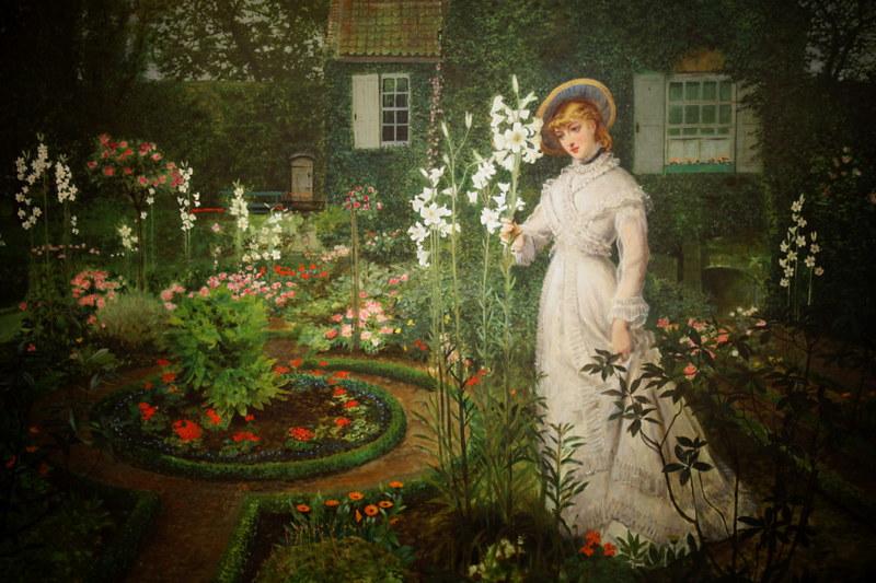 John Atkinson Grimshaw, The Rector's Garden Queen of the Lillies.