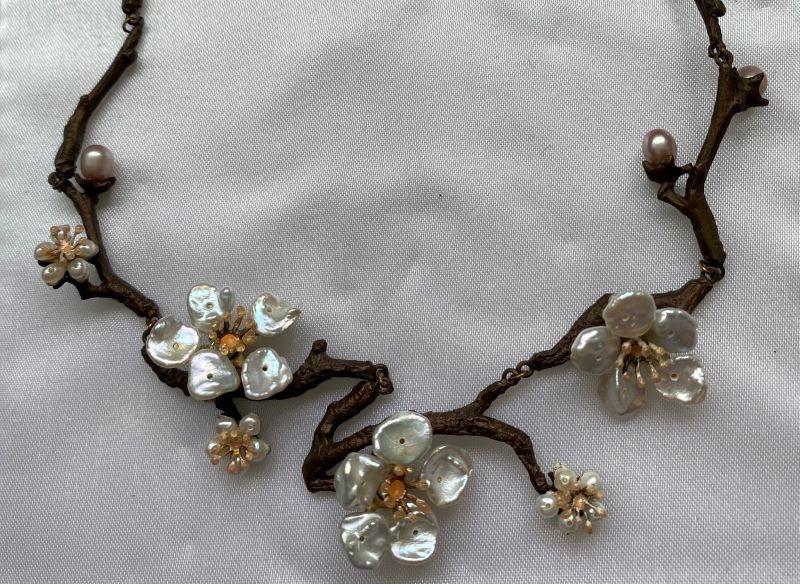 Cherry blossom necklace.